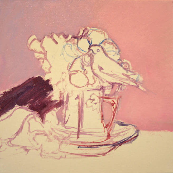 Pansy Tea For Two - WIP 1- Marie Cameron 2014