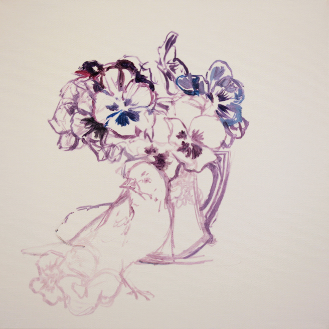 Pansy Tea WIP 1 - Marie Cameron 2014