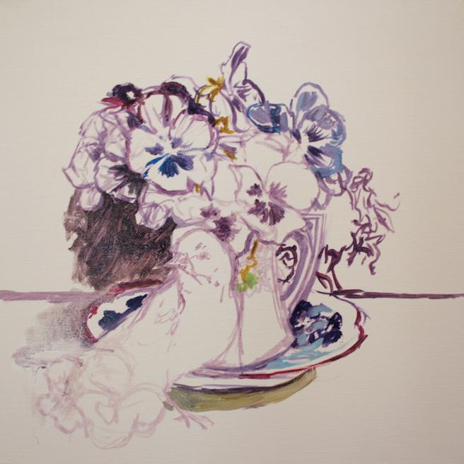 Pansy Tea WIP 2 - Marie Cameron 2014