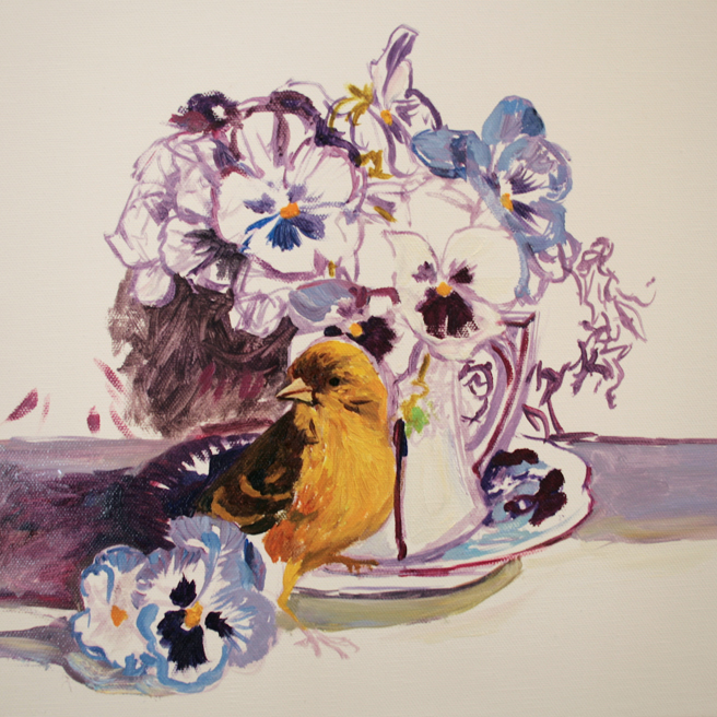 Pansy Tea WIP 3 - Marie Cameron 2014