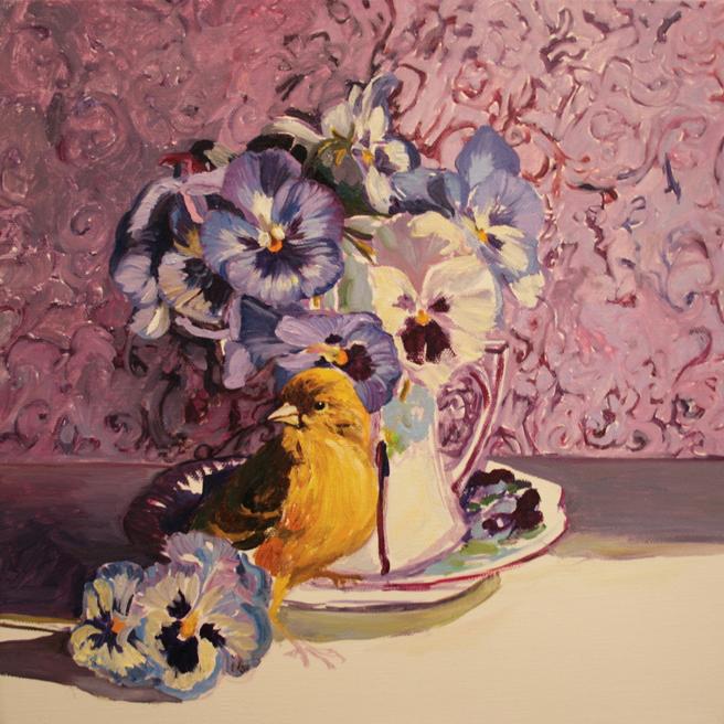Pansy Tea WIP 5 - Marie Cameron 2014