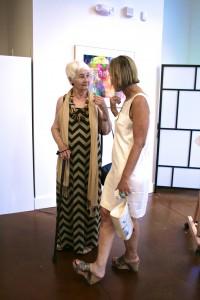 Juror Edna Wagner Piersol and artist Robin Apple