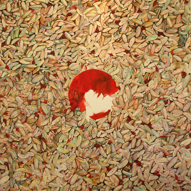 Painting of Lure - (starting red) Marie Cameron 2014