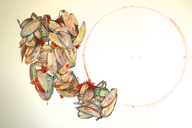 Panting Mother of Pearl Lures - Marie Cameron 2014