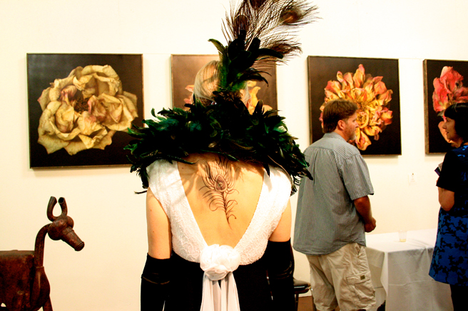 Art Party SJ 2014 - Holly Van Hart's back, shapie tattoo compliments of yours truly - photo by Marie Cameron