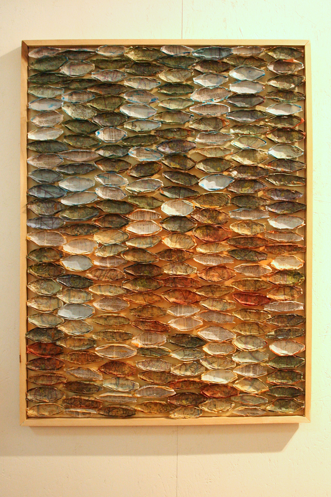 Art Party SJ 2014 - Part of the Whole, encaustic, by Linda Steenkamp - photo Marie Cameron