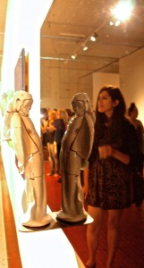 Art Party SJ 2014- Stan Welsh ceramic Figure, epoxy resin - photo Marie Cameron
