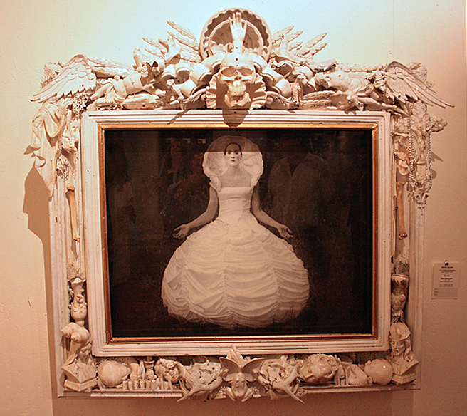 Art Party SJ 2014 - White Queen by Michael Garlington - silver gelatin photographyy, mixed media frame - photo Marie Cameron