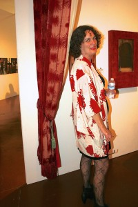 Art Party SJ 2014 - lines of art and art appreciators blurring - photo Marie Cameron