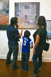 Family Admiring Archil Pichkhadze oil painting Three