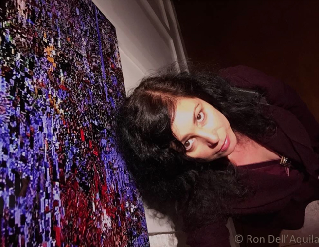 Ron Dell'Aquilla's Marie Cameron Selfie with Blue Pool - PAL 2014