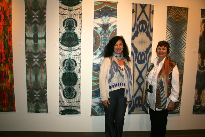 Monumental Fiber - Vargas Gallery 2015 - Marie Cameron and Dotti Cichon- photo Lynne Todaro