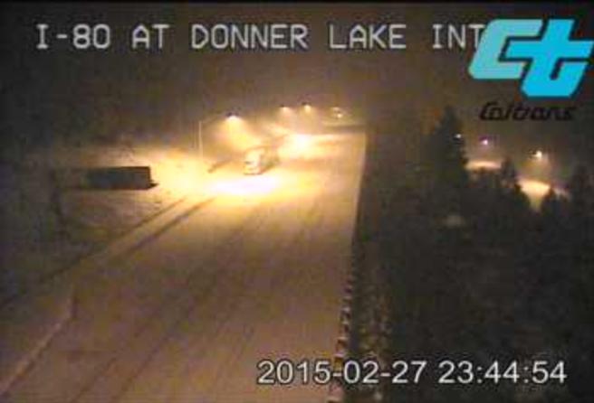 Donner Lake Pass - Caltrans 2/27/15