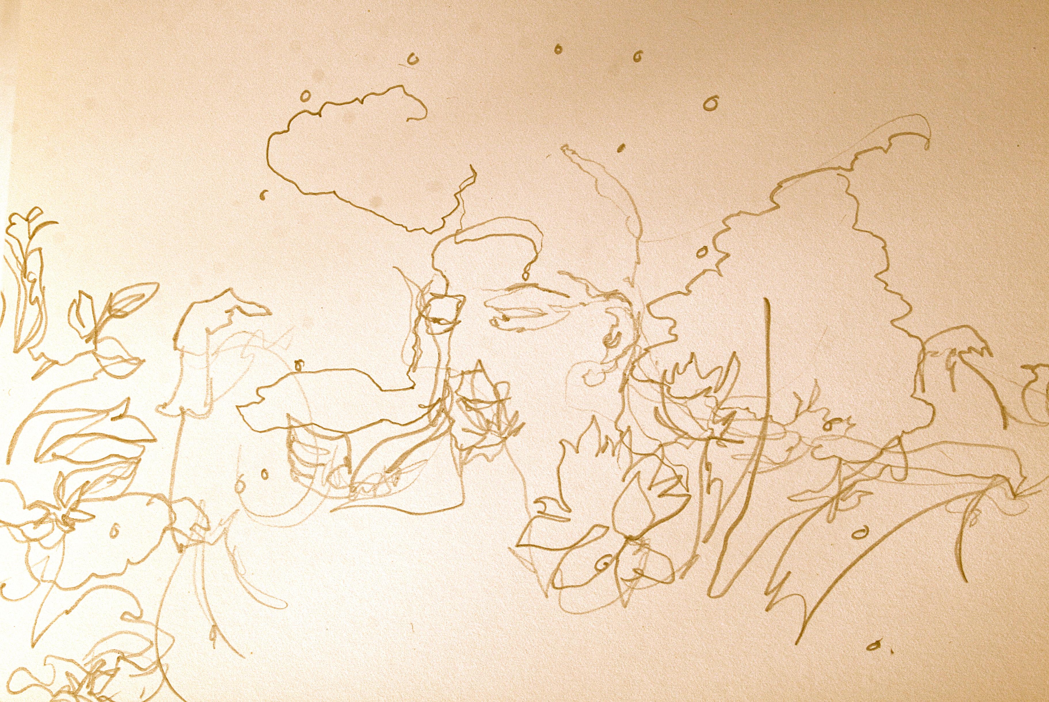 Yogini Drawing - Marie Cameron 2014