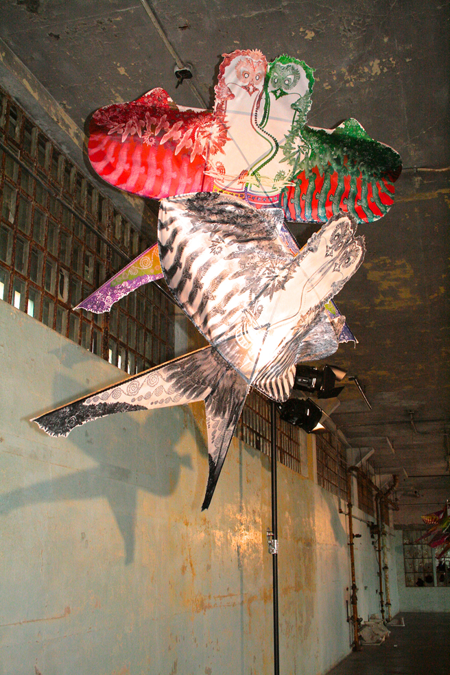 Hand made kites - double birds
