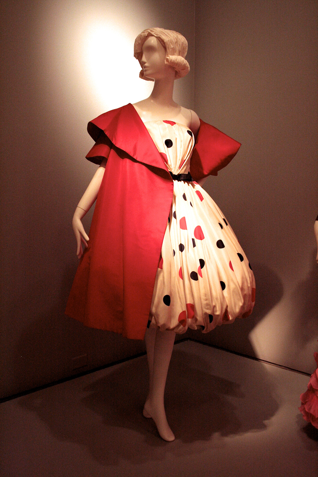 Legion of Honor - High Style - Evening Ensemble (dots) - Arnold Scaasi