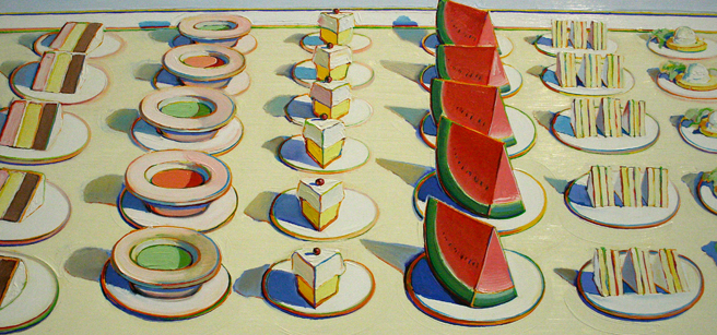Wayne Thiebaud - Lunch Counter 1964 (detail) Anderson Collection - Stanford