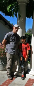 Justin Lowman and treehouse builder at Montalvo - photo Marie Cameron 2015