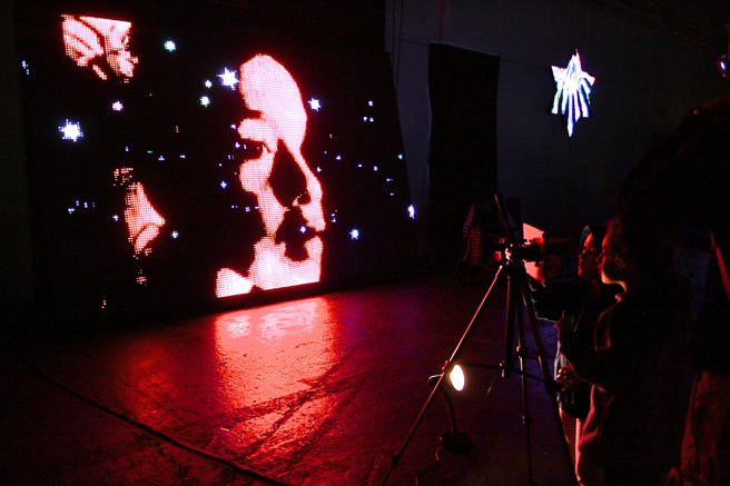 Maker Faire - Combined Projection- photo Marie Cameron 2015