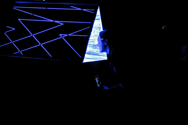 Maker Faire - Kaliediscopic Projection Control - photo Marie Cameron 2015