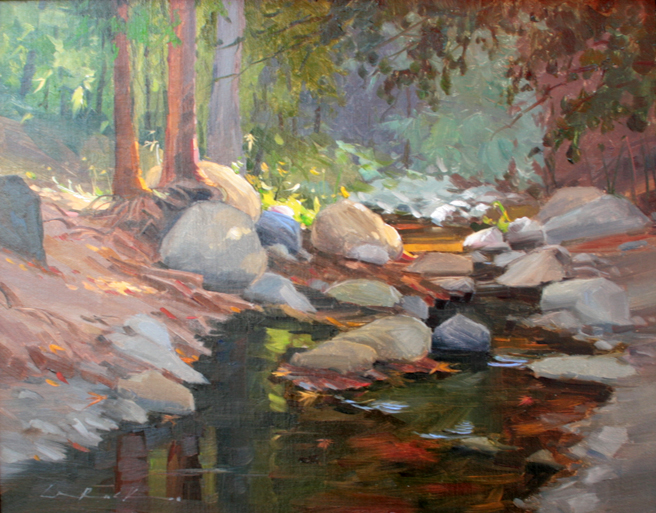 Plein Air 2015 - 2nd place Greg LaRock - photo Marie Cameron 2015