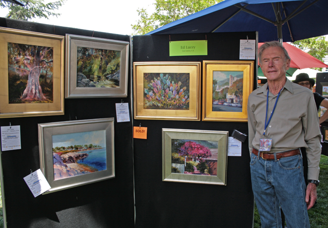 Plein Air 2015 - Ed Lucey - photo Marie Cameron 2015