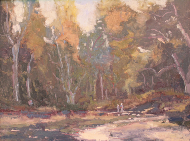 Plein Air 2015 - Honorable Mention- Erich Neubert, A Walik in the Park - photo Marie Cameron 2015