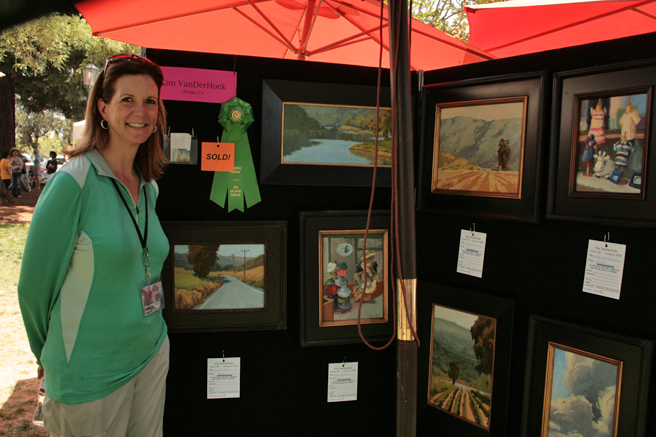 Plein Air 2015 - Kim VanDerHoek - photo Marie Cameron 2015