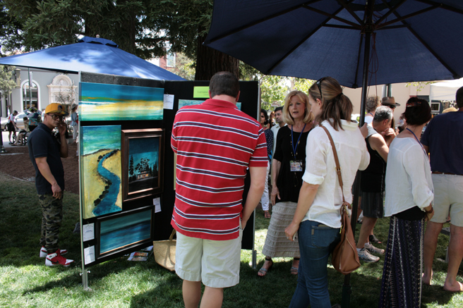 Plein Air 2015 - Lorraine Lawson - photo Marie Cameron 2015