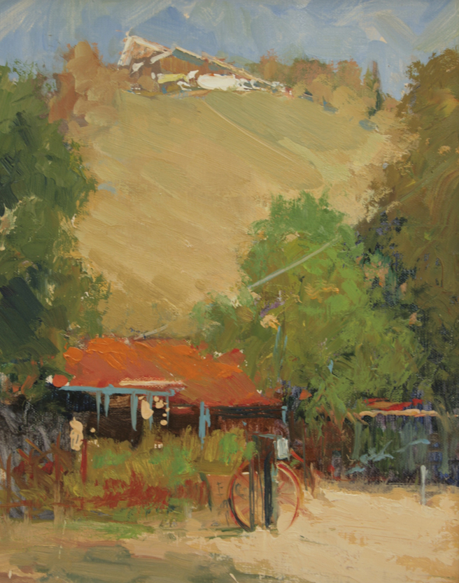 Plein Air 2015 - Susan Elwart Hall , Pentouse View- photo Marie Cameron 2015
