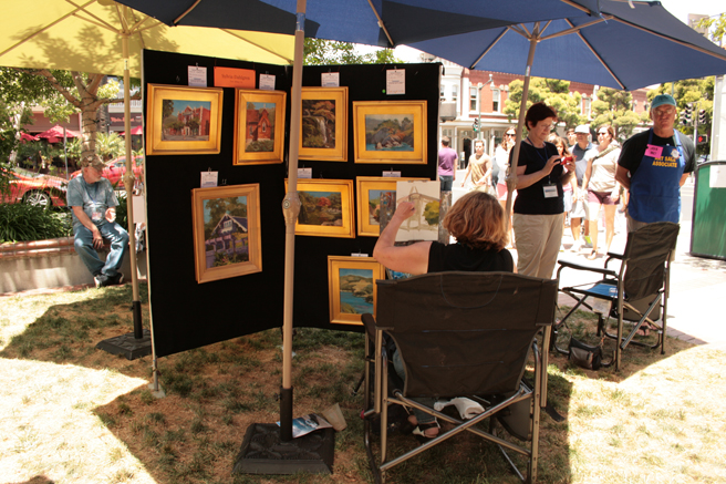Plein Air 2015 - Sylvia Dahlgren - photo Marie Cameron 2015