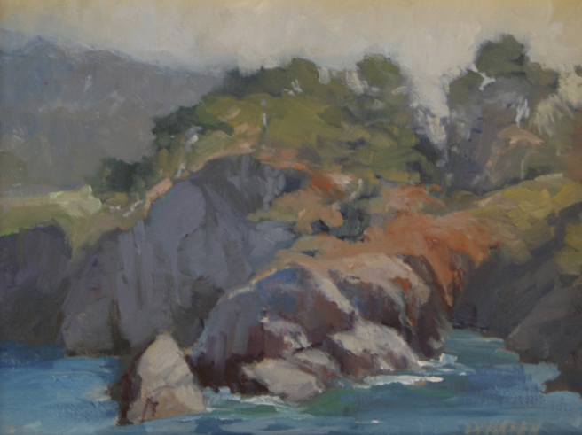 Plein Air 2015 - Sylvia Dalhgren, Point Lobos - photo Marie Cameron 2015