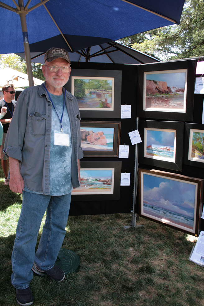 Plein Air 2015 - Will Maller - photo Marie Cameron 2015