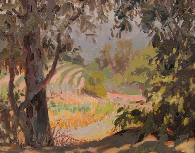 Plein Air 2015 - Yong Hong Zhong, Hiding From the Sun - photo Marie Cameron 2015
