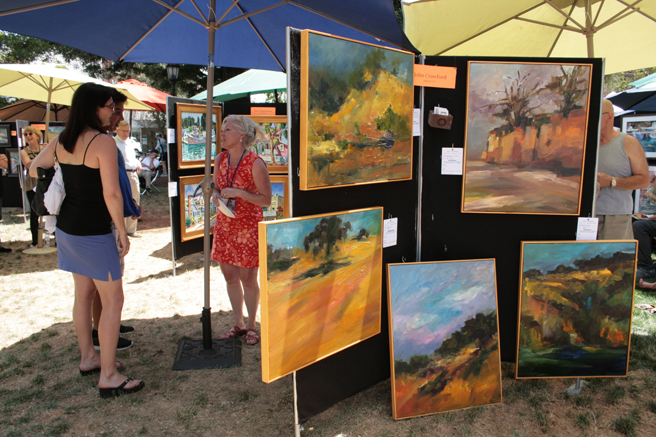 Plein Air 2015 - meeting with an artist- photo Marie Cameron 2015