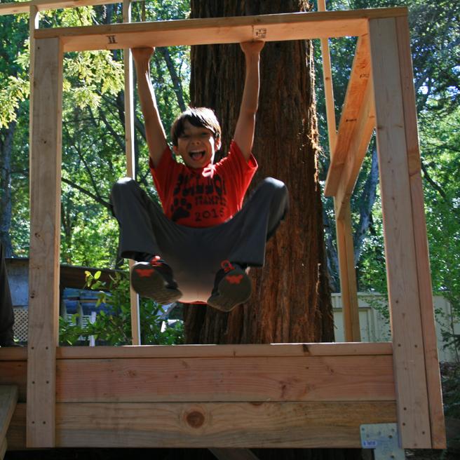 Treehouse Camp , Montalvo - Hanging - photo Marie Cameron 2015