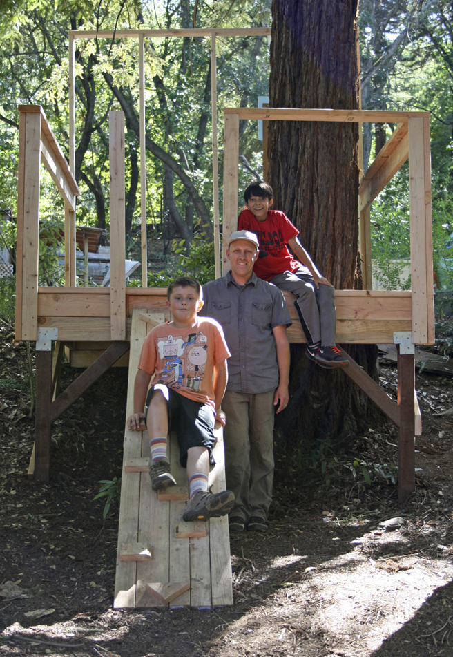 Treehouse Camp, Montalvo with Justin Lowman- photo Marie Cameron 2015