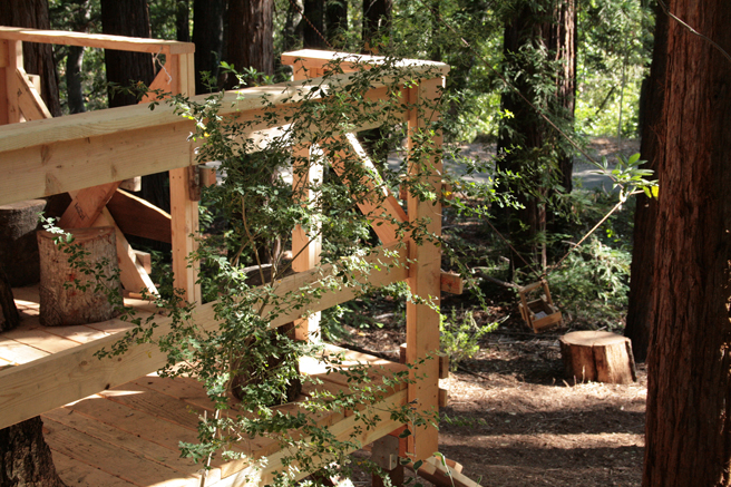 Treehouse Camp - Pulley System - photo Marie Cameron 2015