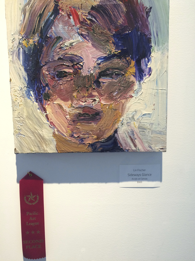 Figures and Faces - PAL - 2015  2nd place Lin Fischer- Side ways Glance- photo Marie Cameron