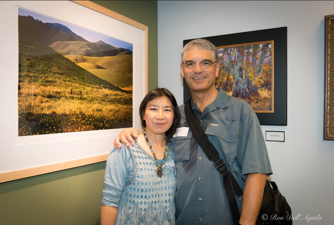 GBAO - Ron and Mei-Ying Dell'Aquila and his photographSpring Green and Yellow #3 - NUMU 2015