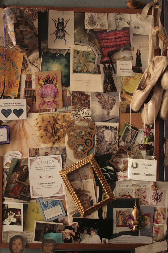 Shannon Amidon Studio Visit - Inspiration Wall - photo Marie Cameron 2015