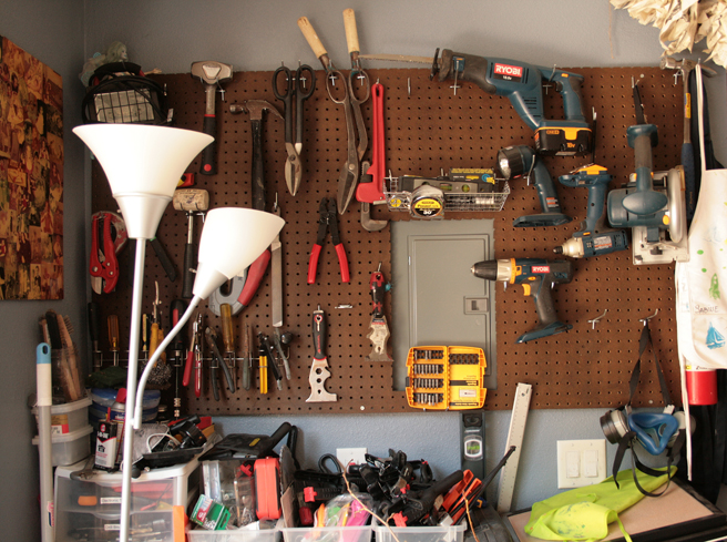 Shannon Amidon Studio Visit - Wall of Tools- photo Marie Cameron 2015
