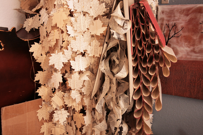 Shannon Amidon Studio Visit - cascades of creative paper work- photo Marie Cameron 2015