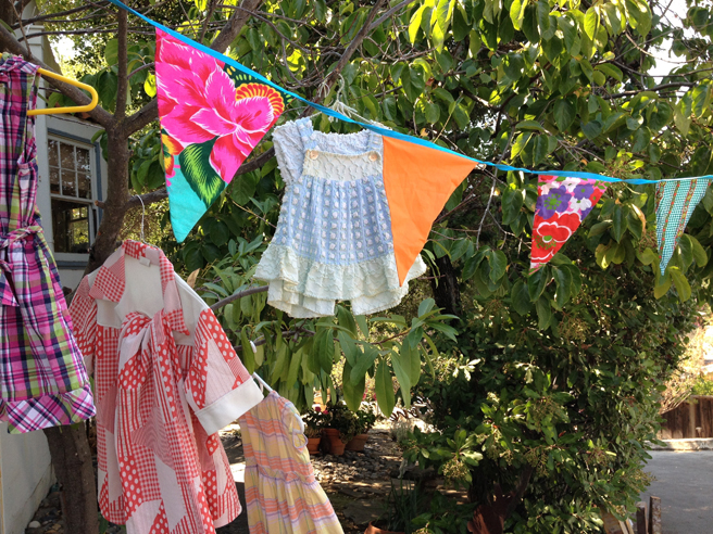 Vintage chenille - Art Studio and Outdoor Marketplace - photo Marie Cameron 2015