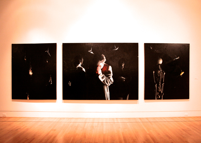 What The Triton Means To Me - George Rivera - Precipice - Triptych oil on canvas 2005-20015 - photo Marie Cameron 2015