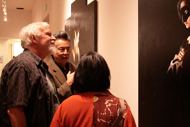 What The Triton Means To Me - George Rivera talking with artists Bob Martinez and Mei-Ying Dell'Aquila - photo Marie Cameron 2015