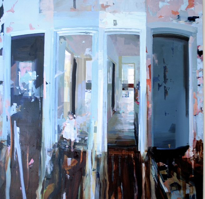 Alex Kanevsky - - - inches, oil on wood - Unstable Equilibrium - Dolby Chadwick - photo Marie Cameron 2015