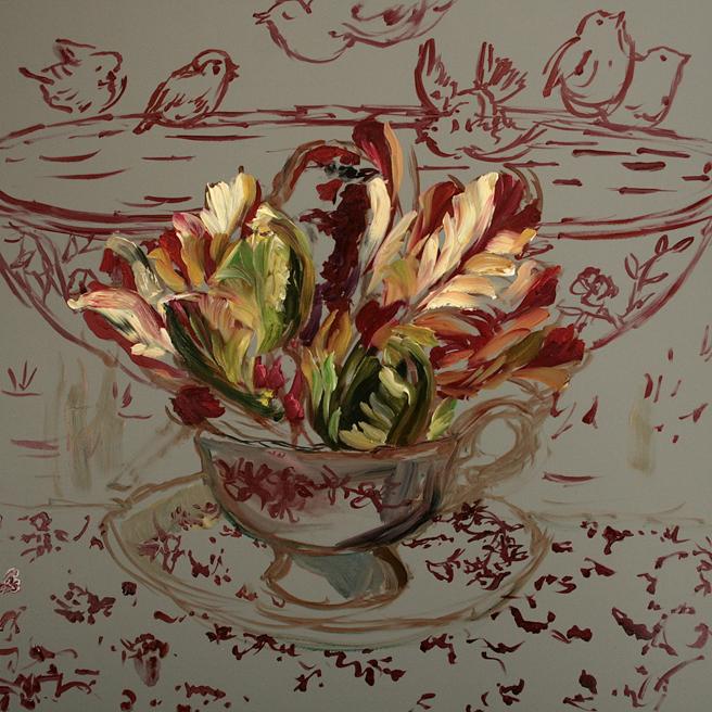 Tulip Tea I (WIP) 3 - Marie Cameron 2015