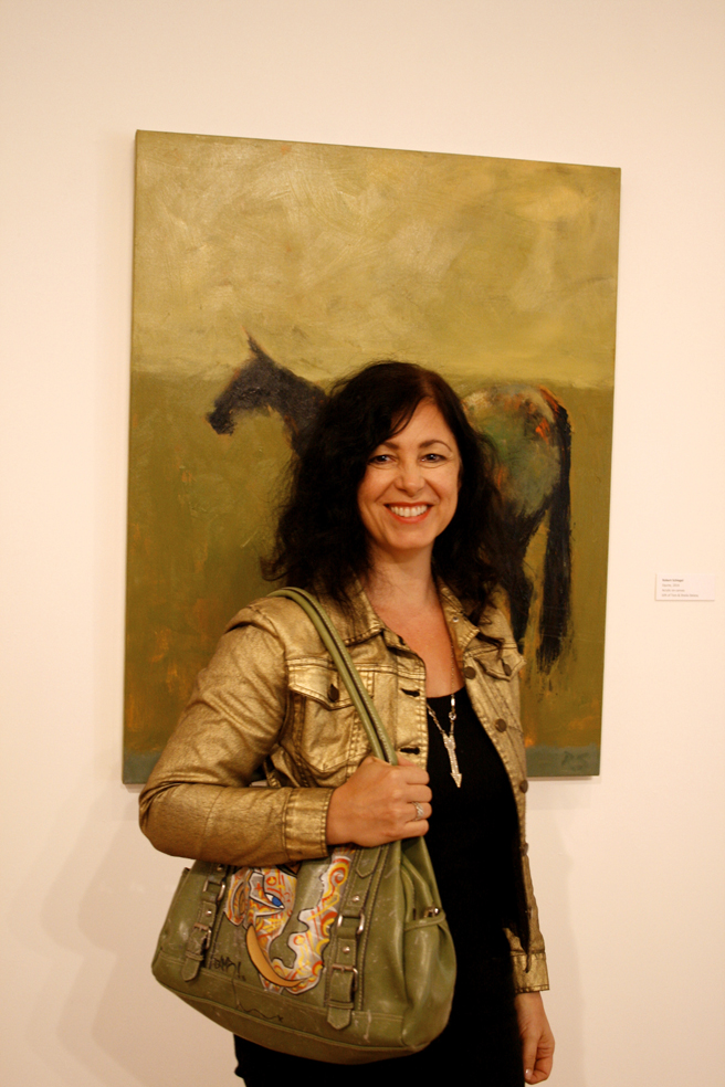 Coffee with the Curator-Triton Museum of Art - Marie Cameron with BAMR bag 2015