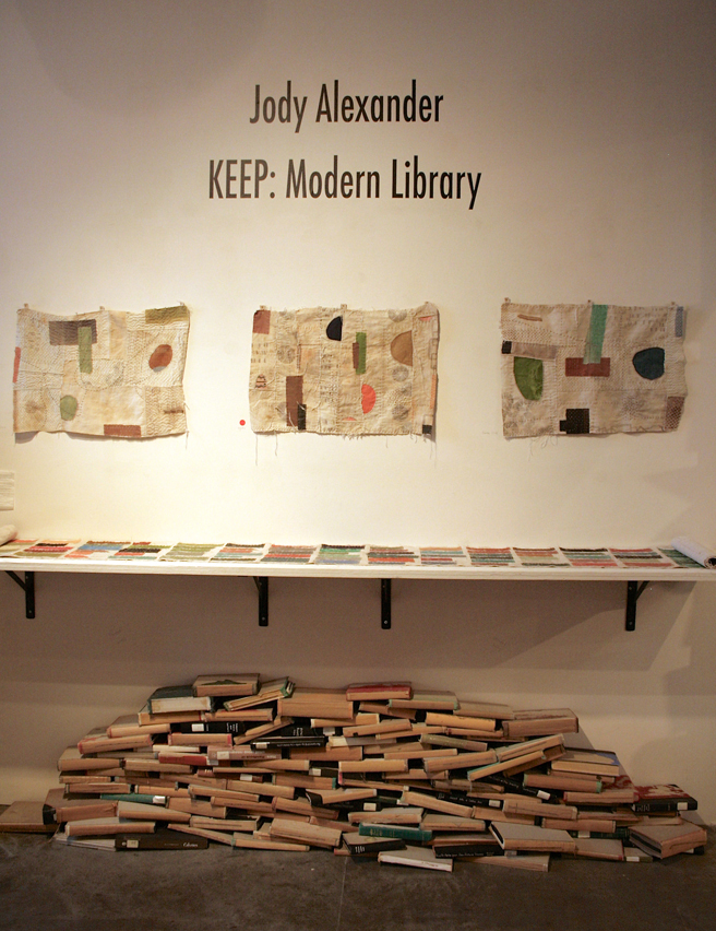 Jody Alexander - Keep Modern Library - R. Blitzer Gallery - Jody Alexander - Keep Modern Library - R. Blitzer Gallery - photo Marie Cameron - 2016